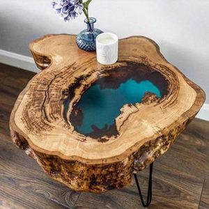 Столы из слэбов дерева и эпоксидной смолы